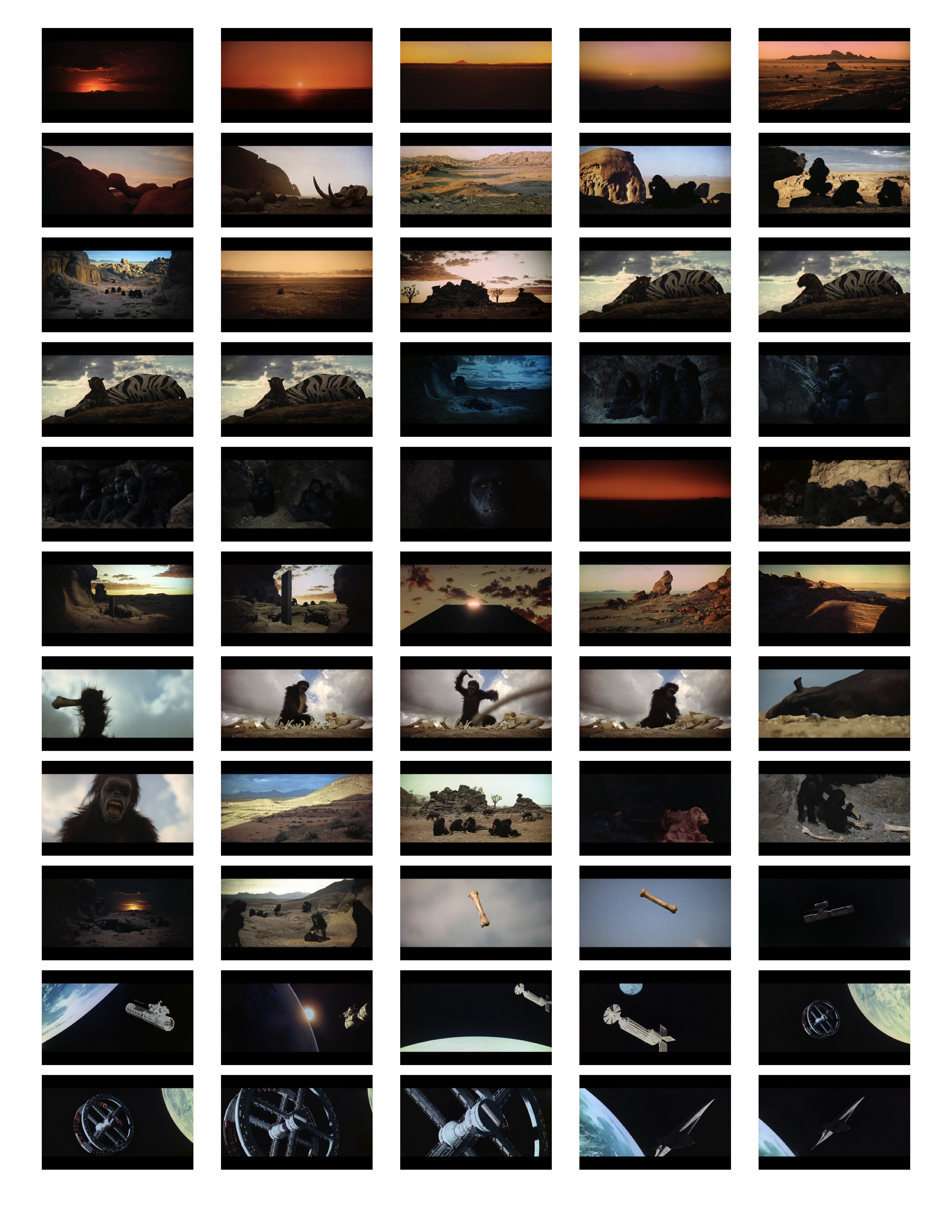 2001 Space Odyssey Cinematography - contact sheets-01