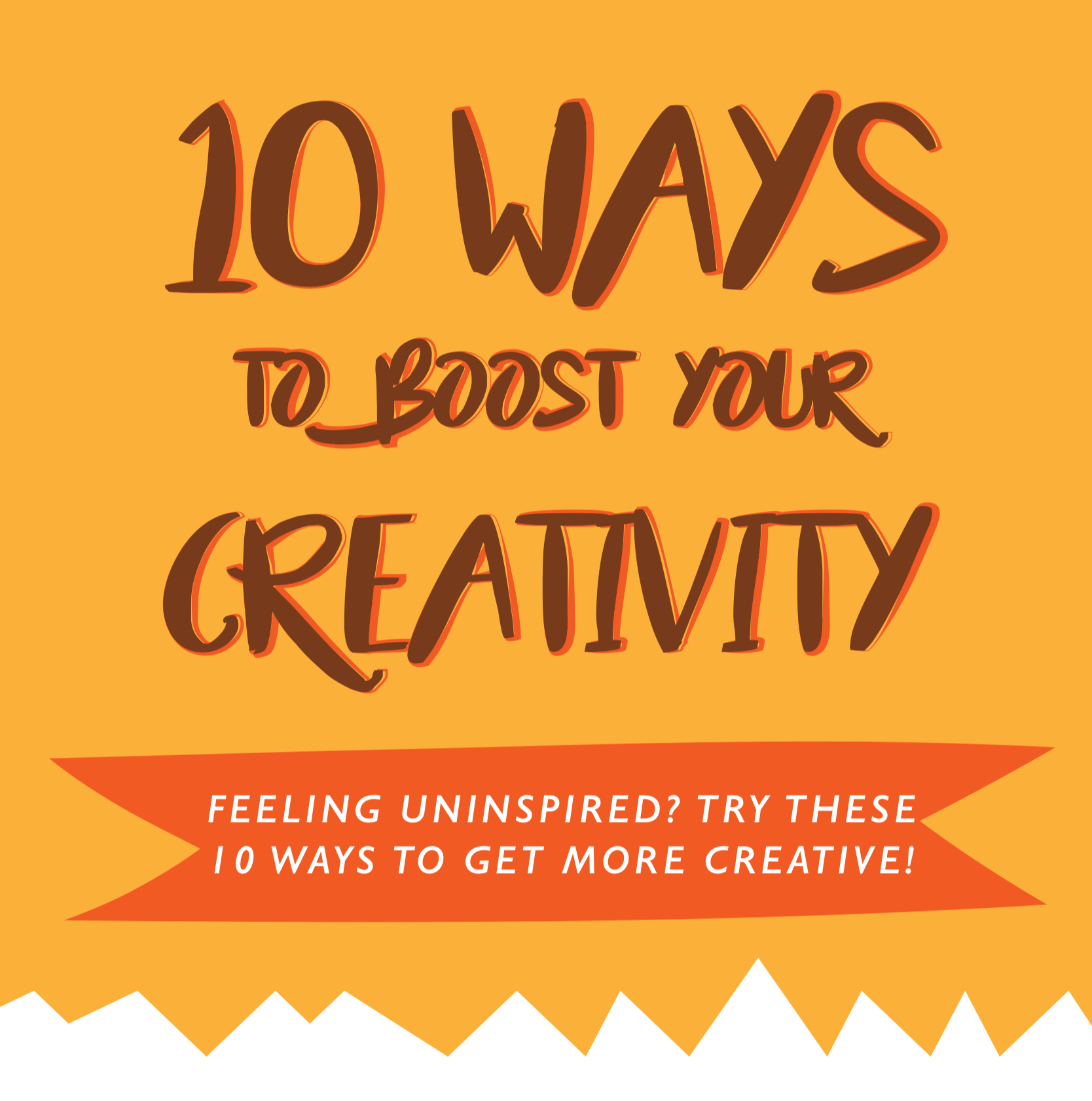 10 Ways to Boost Your Creativity: Free PDF Visualization by ANNETTE KIM