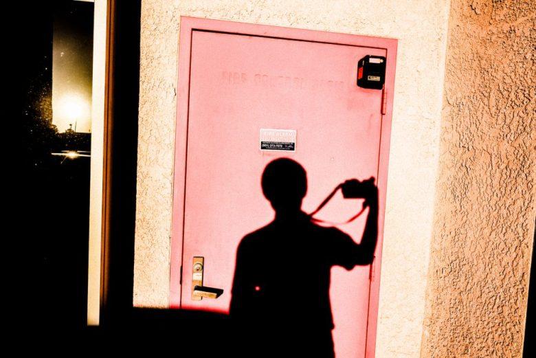 Pink selfie shadow