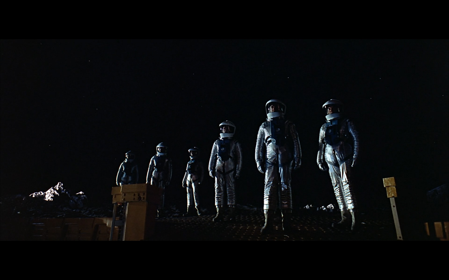 scene on the moon obelisk - space odyssey-6