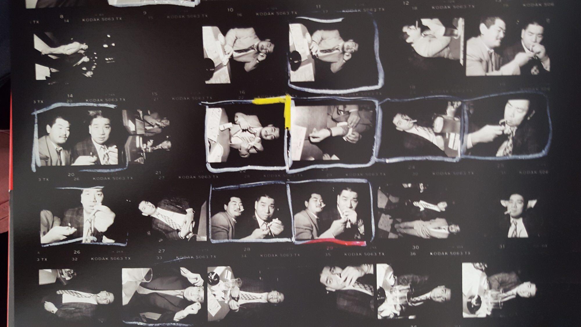 bruce gilden - yakuza cigarette contact sheet2