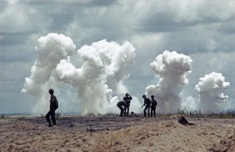 SOUTH VIETNAM. US bombardment, battle of An Loc. 1972.