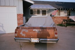 driveway and old chevorlet car eric kim only in america contact sheet2
