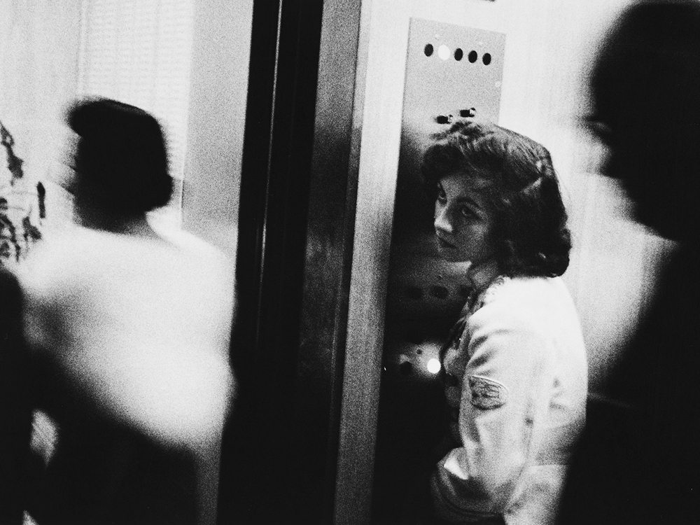 elevator girl - robert frank