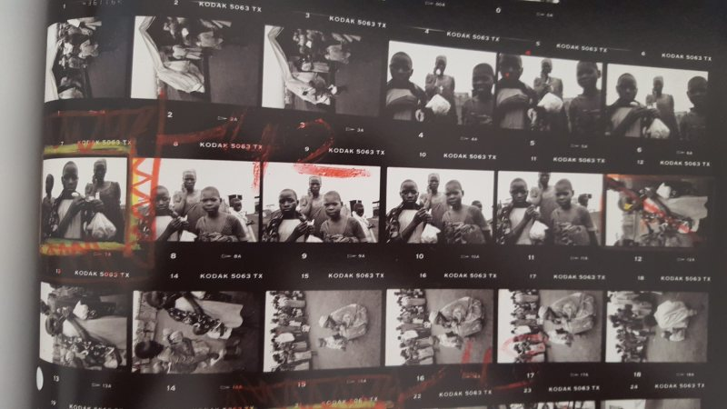 eli reed contact sheets - kids in africa5