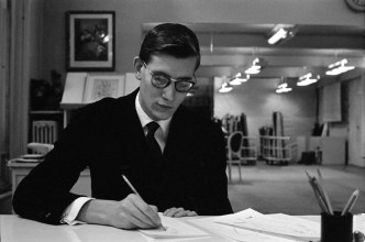 FRANCE. Paris. 1957. Ives SAINT LAURENTE during his early days at the Christian Dior fashion house, prior to his first opening of his own collection.