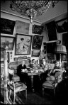 RUSSIA. 1965. Drawing room in novelist Lev KASSIL's house. (left to right) Mme. SOBINOV, widow of the tenor, under an early portrait of herself. Her granddaughter & Lev KASSIL and his wife.