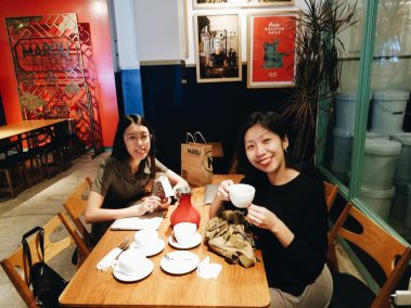 Marou chocolate in Saigon probably my favorite place in the world to do creative work! With Cindy and Jennifer #a6