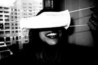 Cindy smiling eye mask