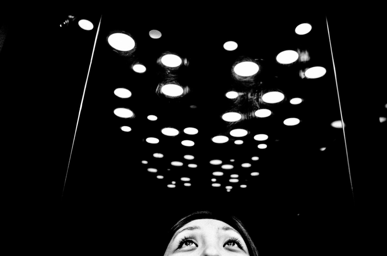 Eyes up black and white