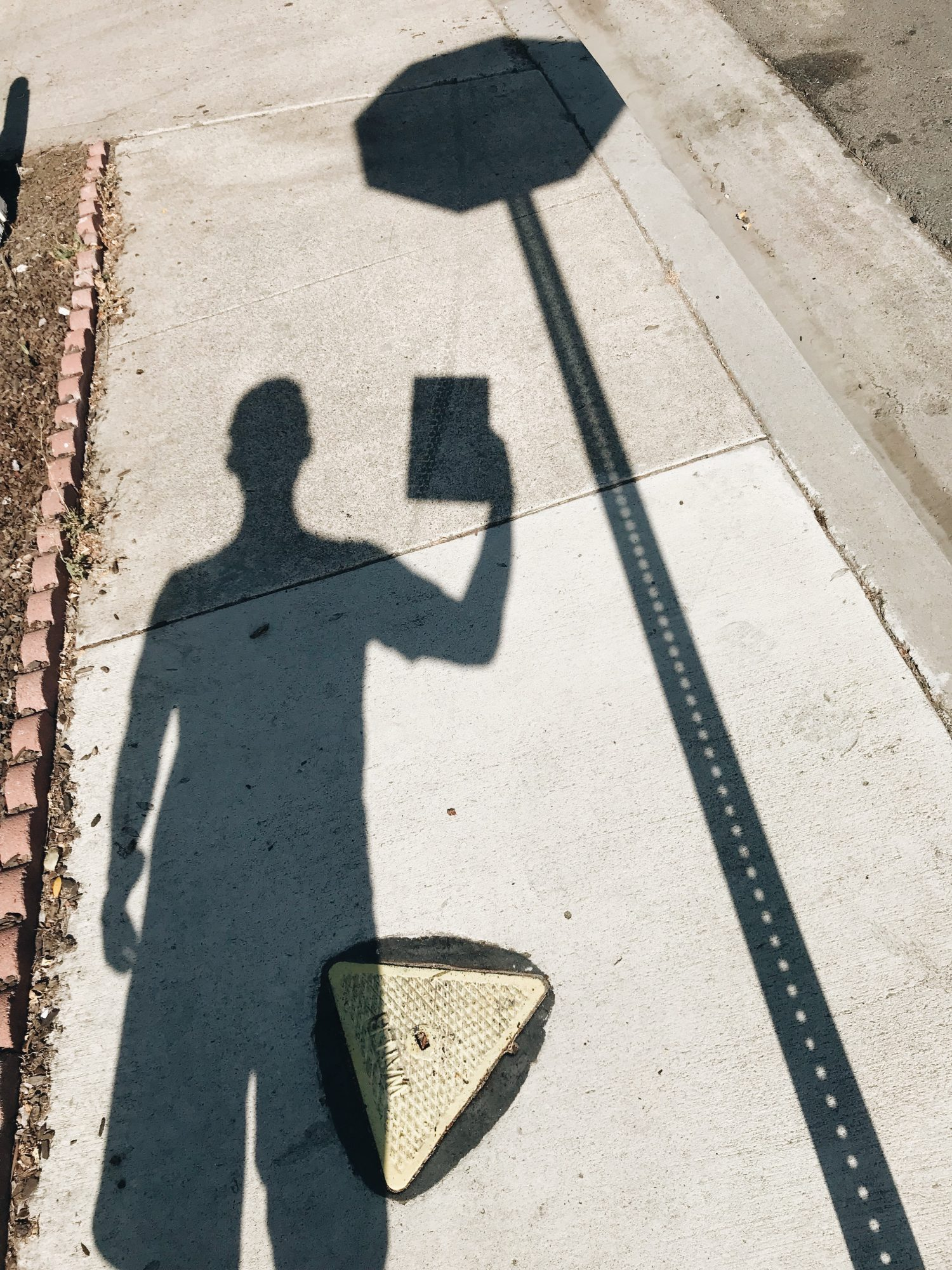 selfie iPad shadow