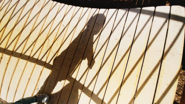 silhouette child playground