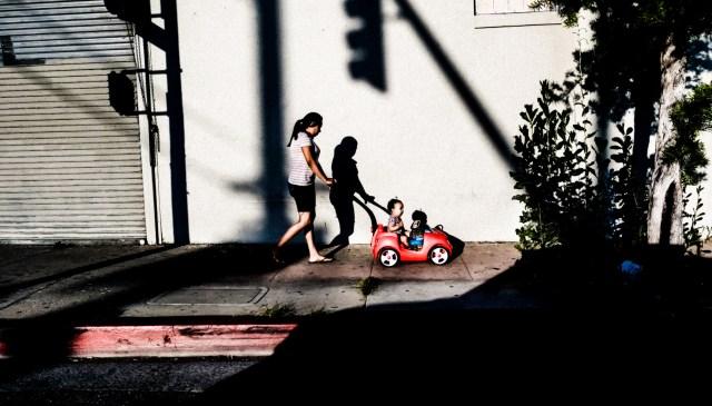 Shadow Los Angeles car window