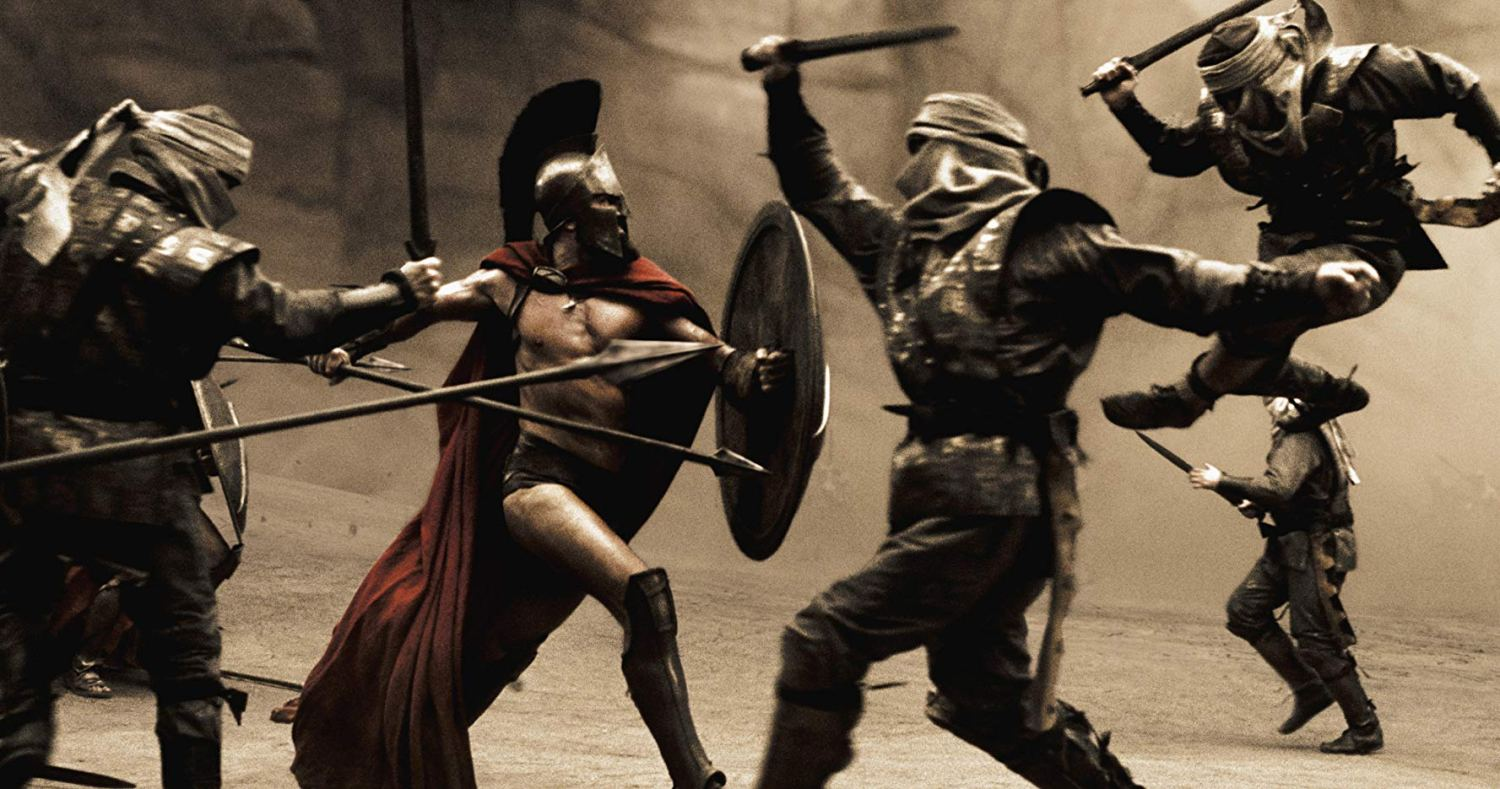king Leonidas fighting - spartan 300