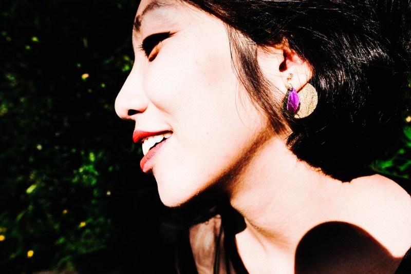 Cindy purple earring
