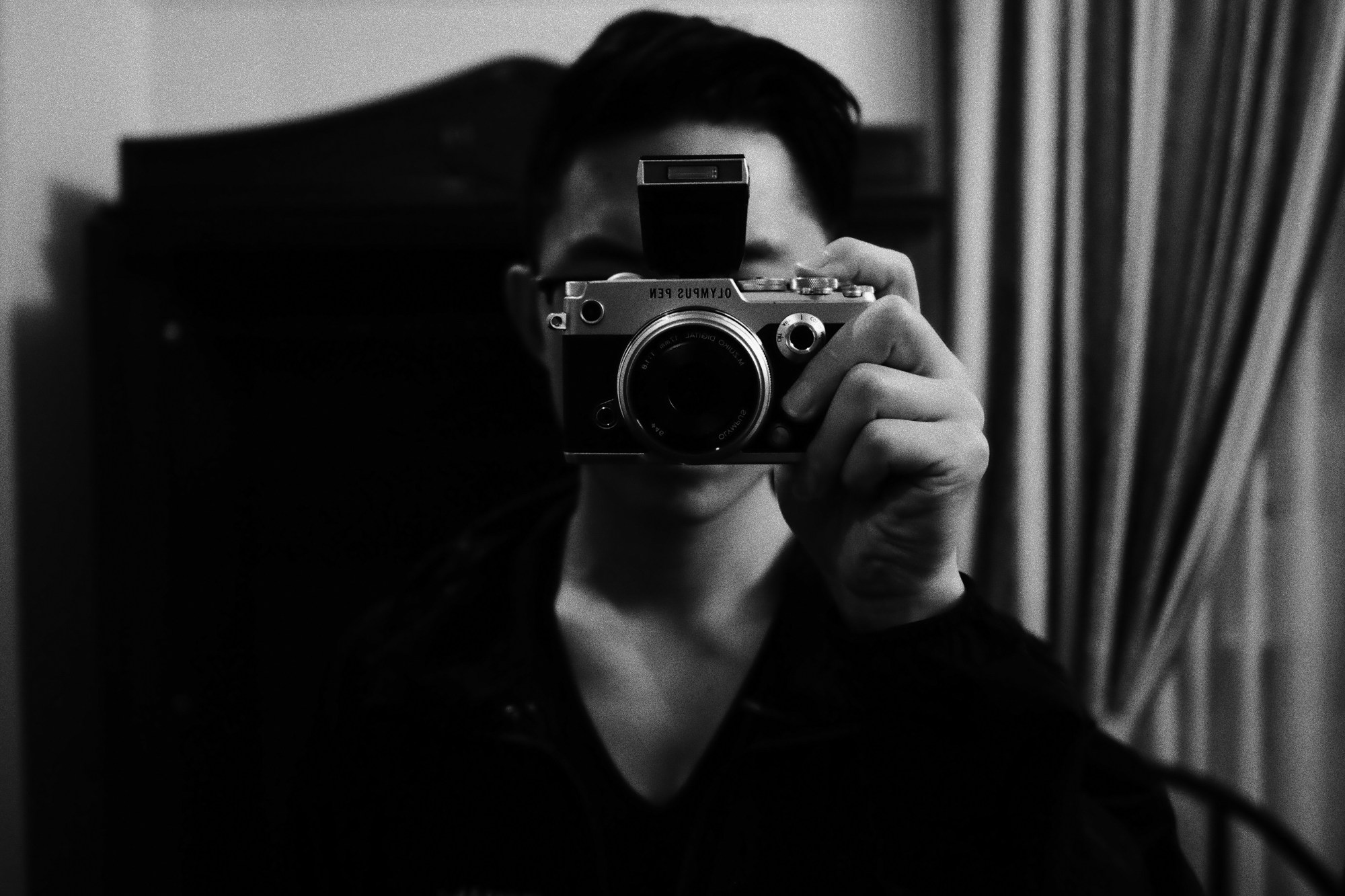 Eric Kim selfie olympus