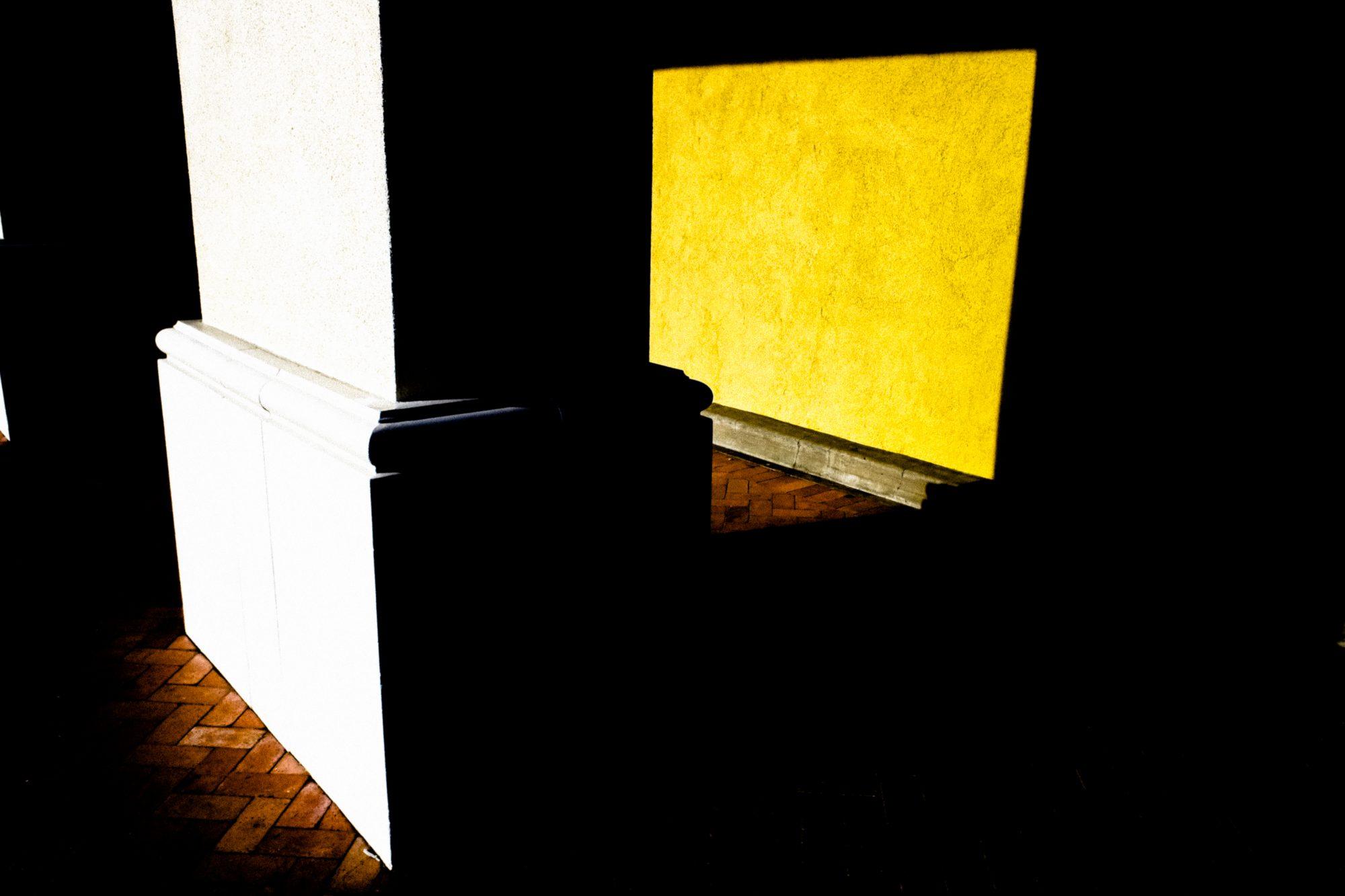 yellow black white