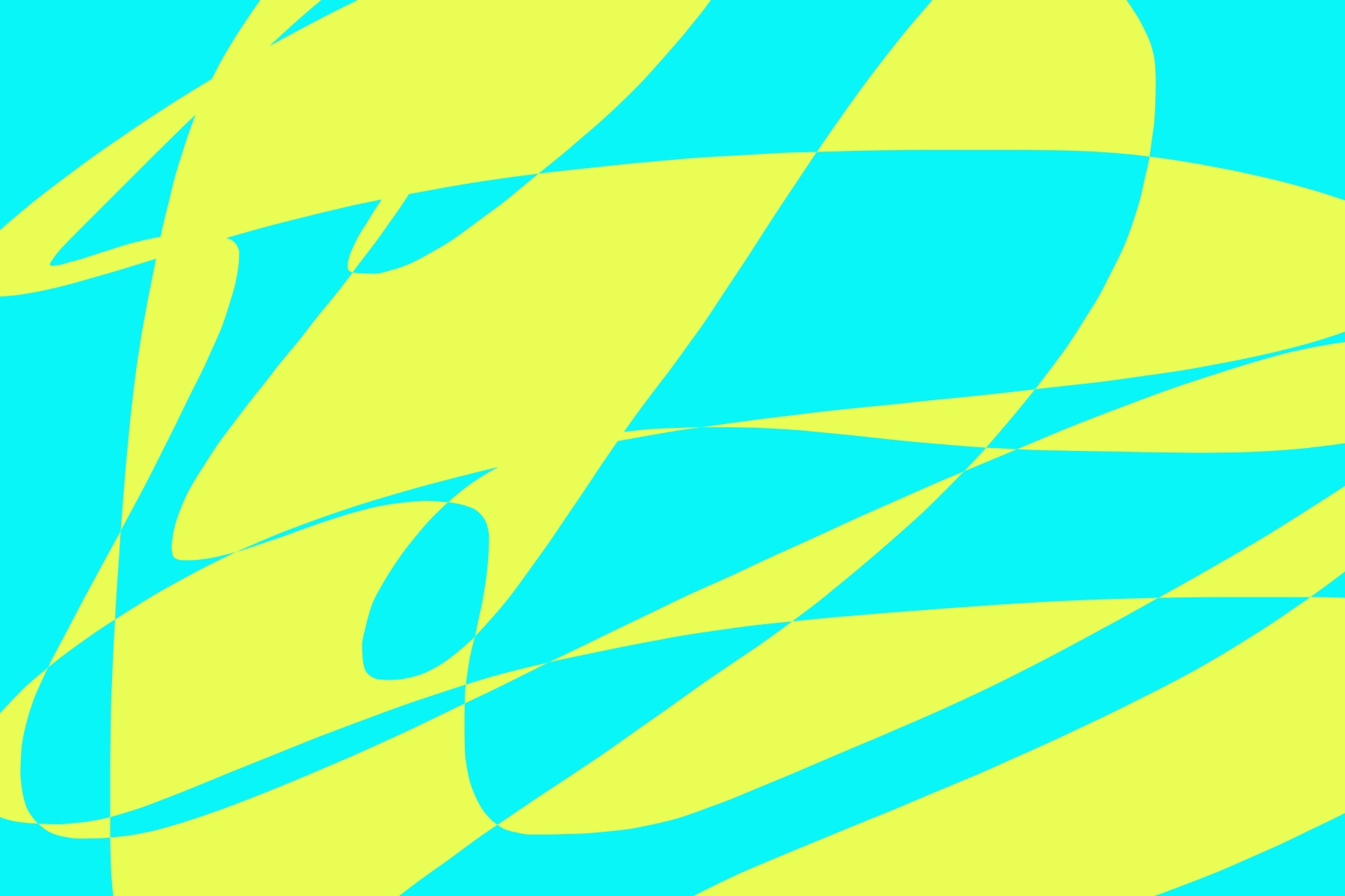 abstract cyan yellow