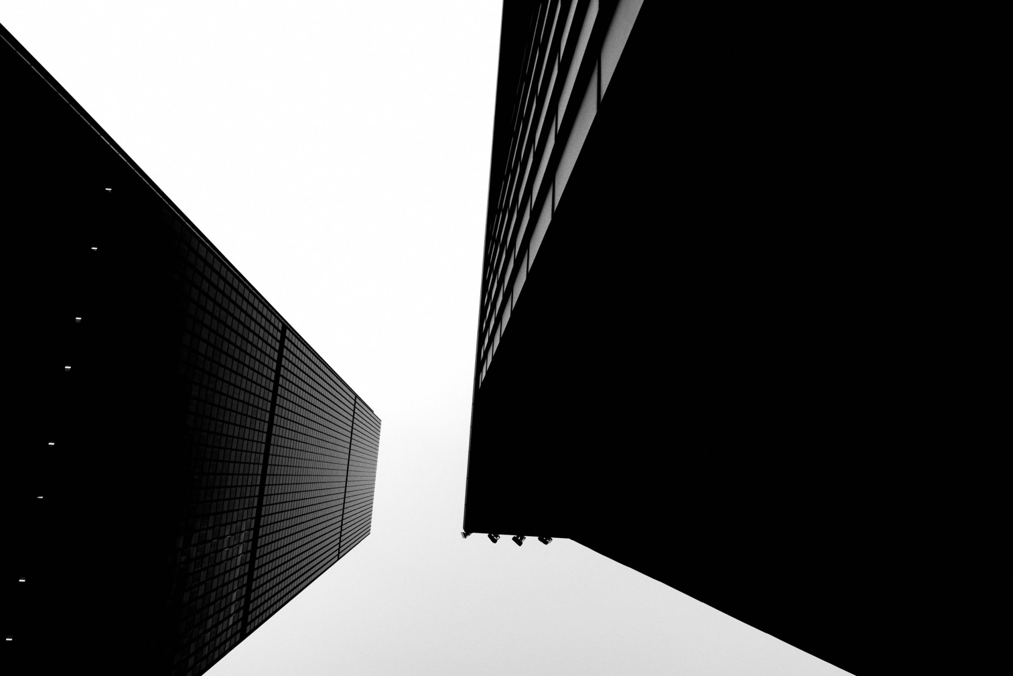 looking up downtown la building