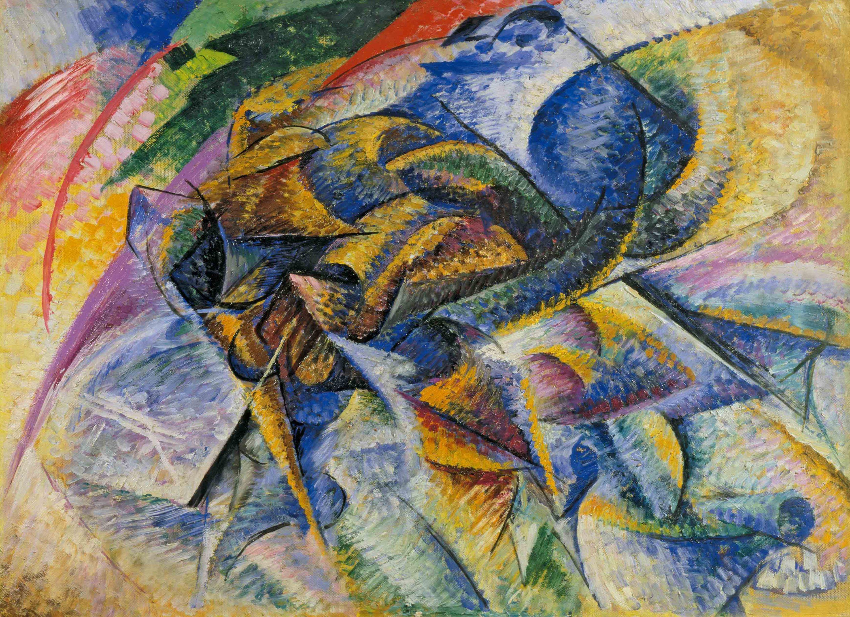 My inspiration: Dinamismo di un ciclista  (Umberto Boccioni, 1913)