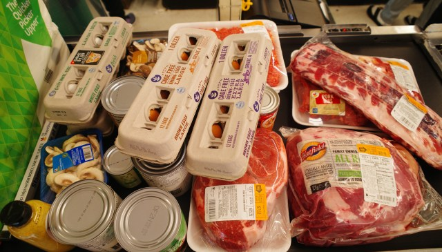 groceries eggs and meats
