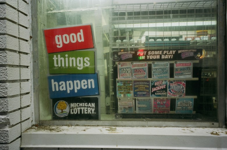 """Good things happen"". Michigan lottery, 2013"