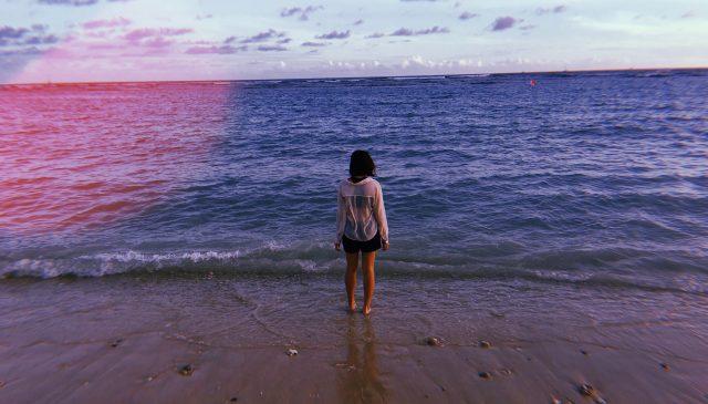 Cindy at beach in Hawaii