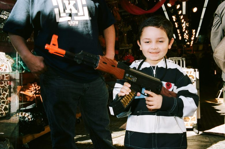 Kids with guns. Downtown LA, 2011