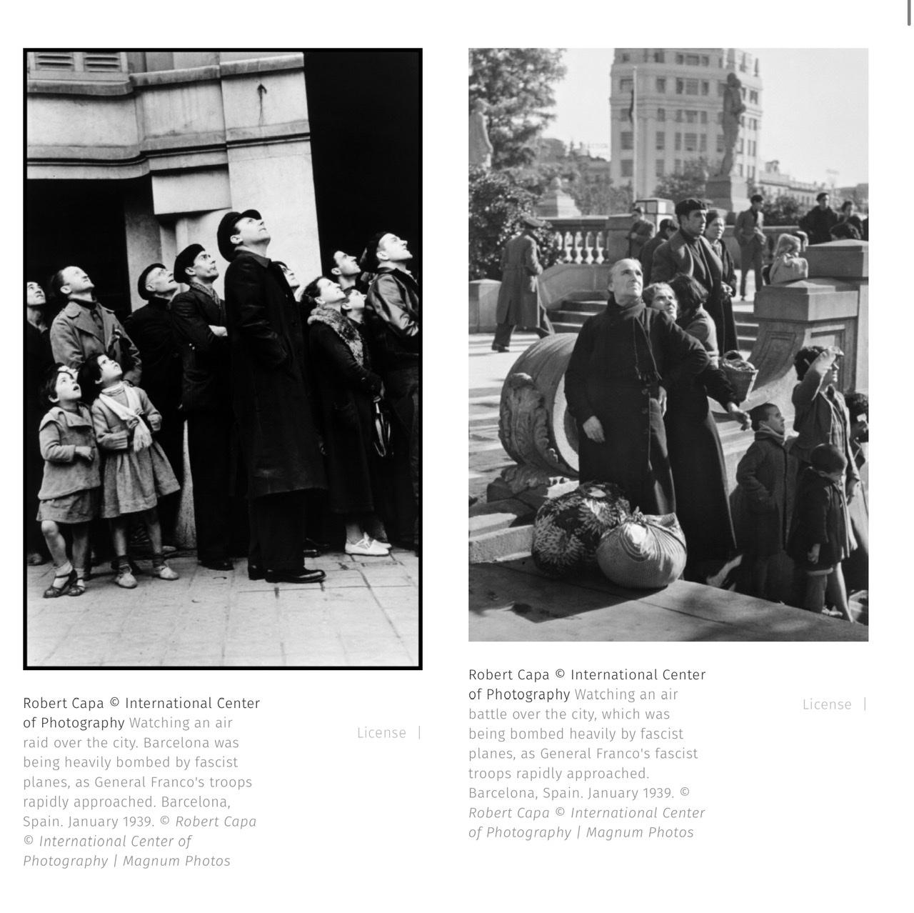 Robert Capa Photography Composition Studies