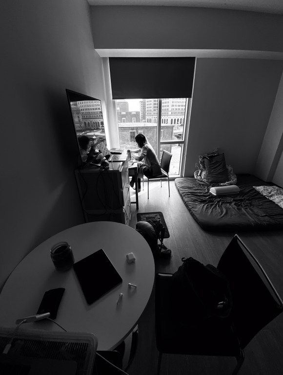 My tiny apartment studio. Providence, Rhode Island