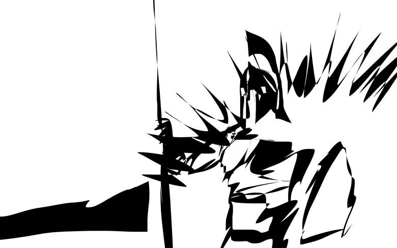 King Leonidas abstract sketch