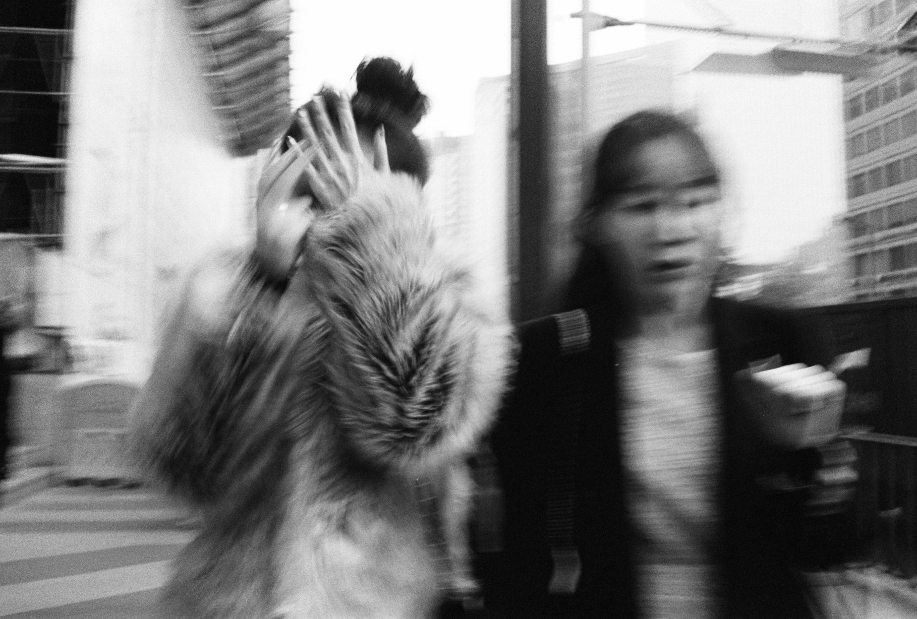 South Korea Seoul blur