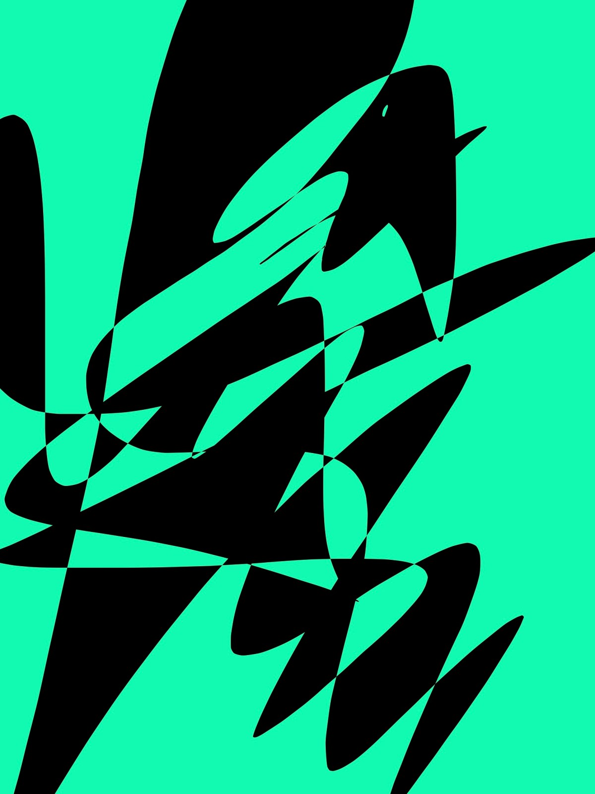 Green black abstract