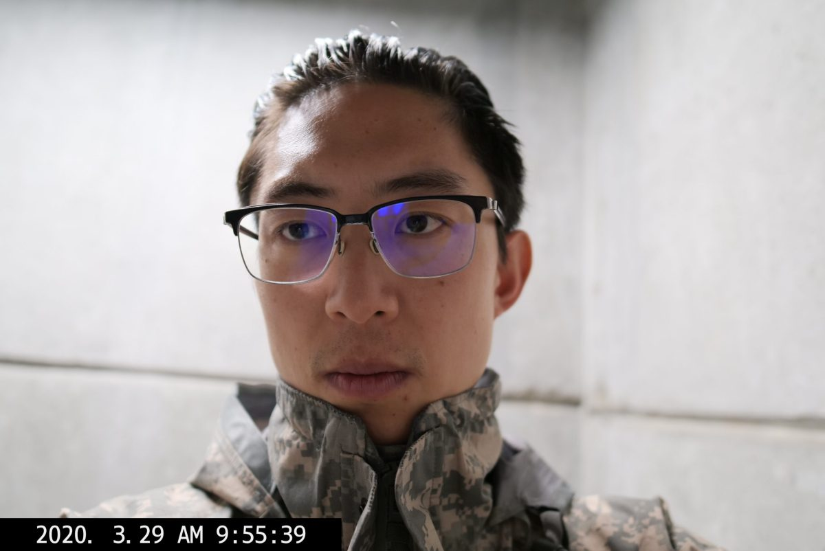 selfie Eric Kim military jacket