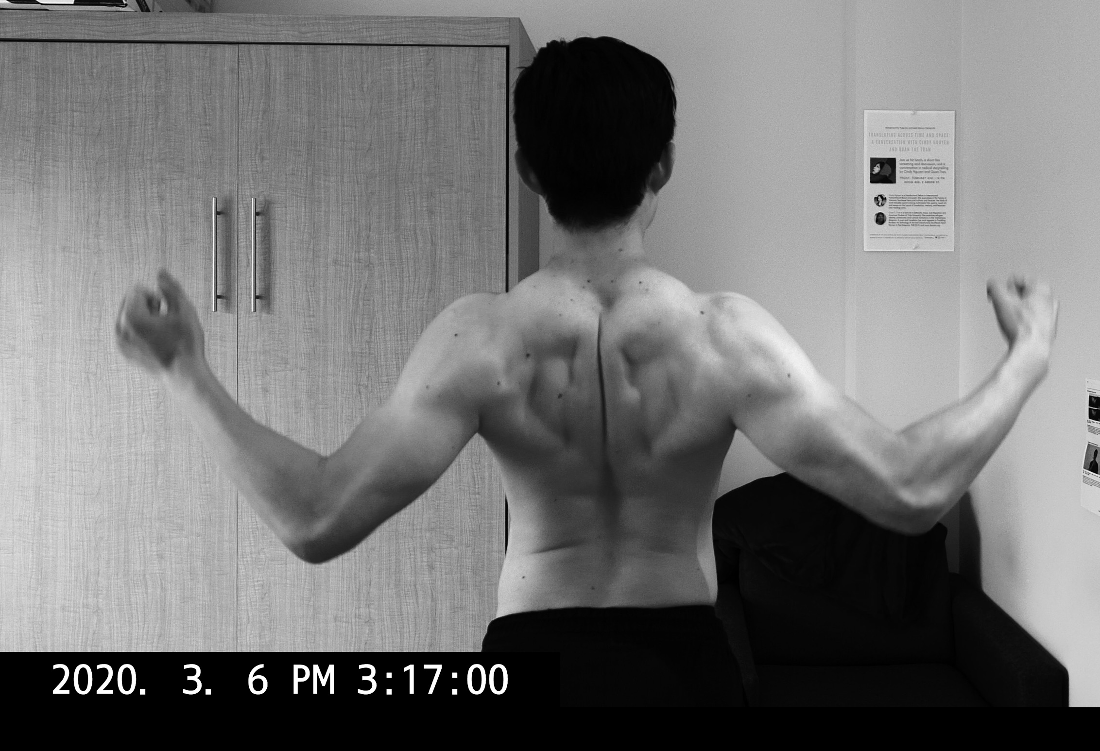 back muscle flex ERIC KIM