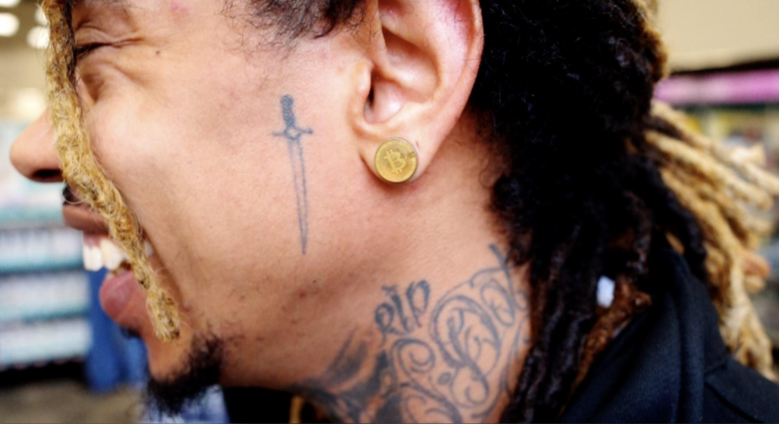 Bitcoin earring