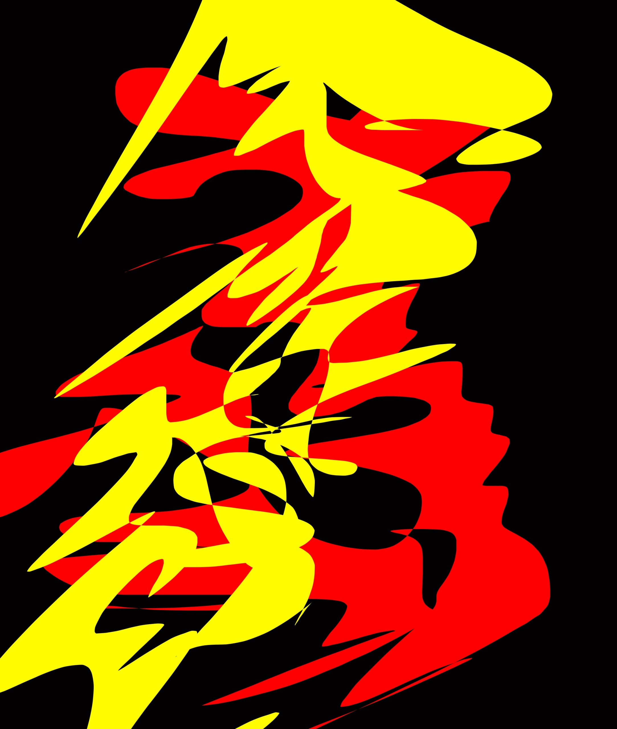 yellow red abstract