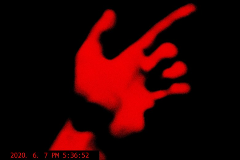 hand red abstract