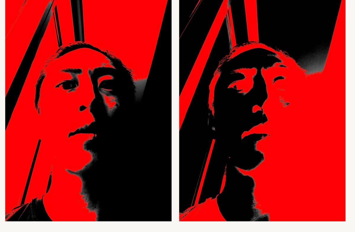 Selfie black red