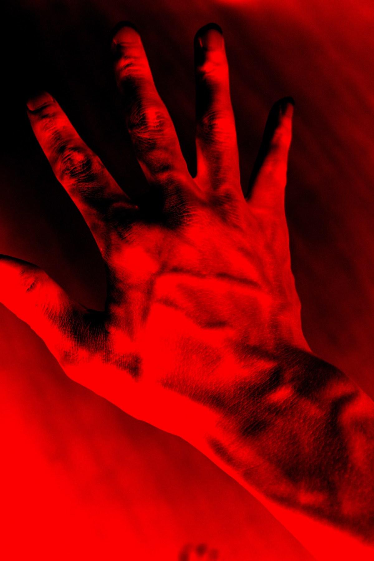 Hand red Eric kim