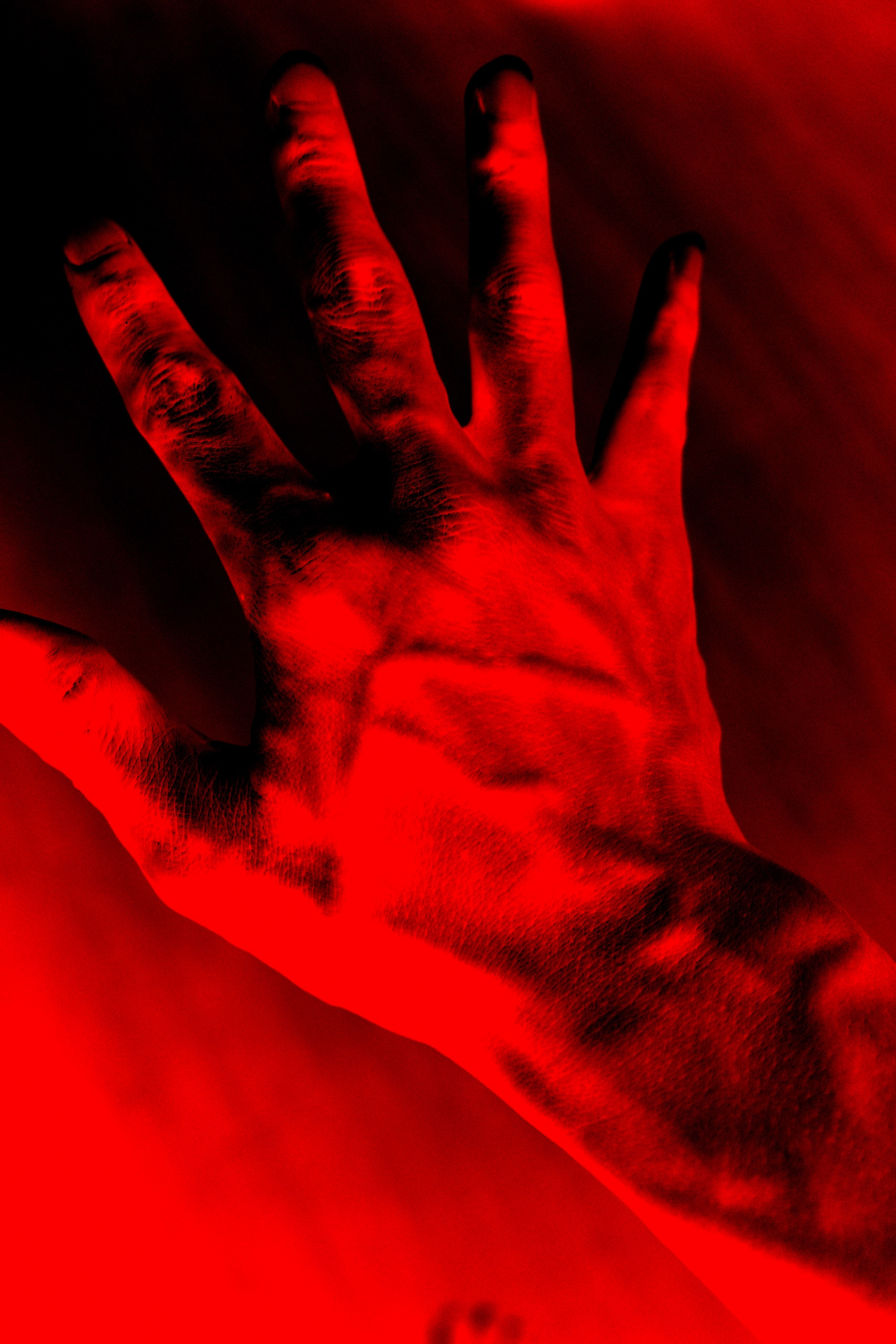 Hand red