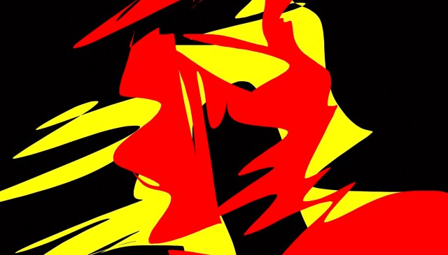 Spartan red yellow abstract