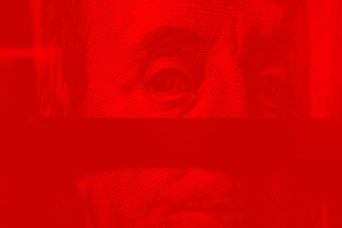 benjamin franklin red fade eye