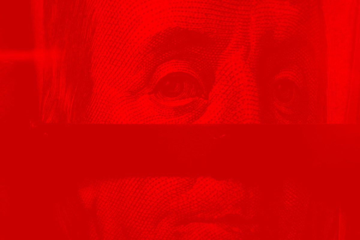 red Benjamin Franklin fade
