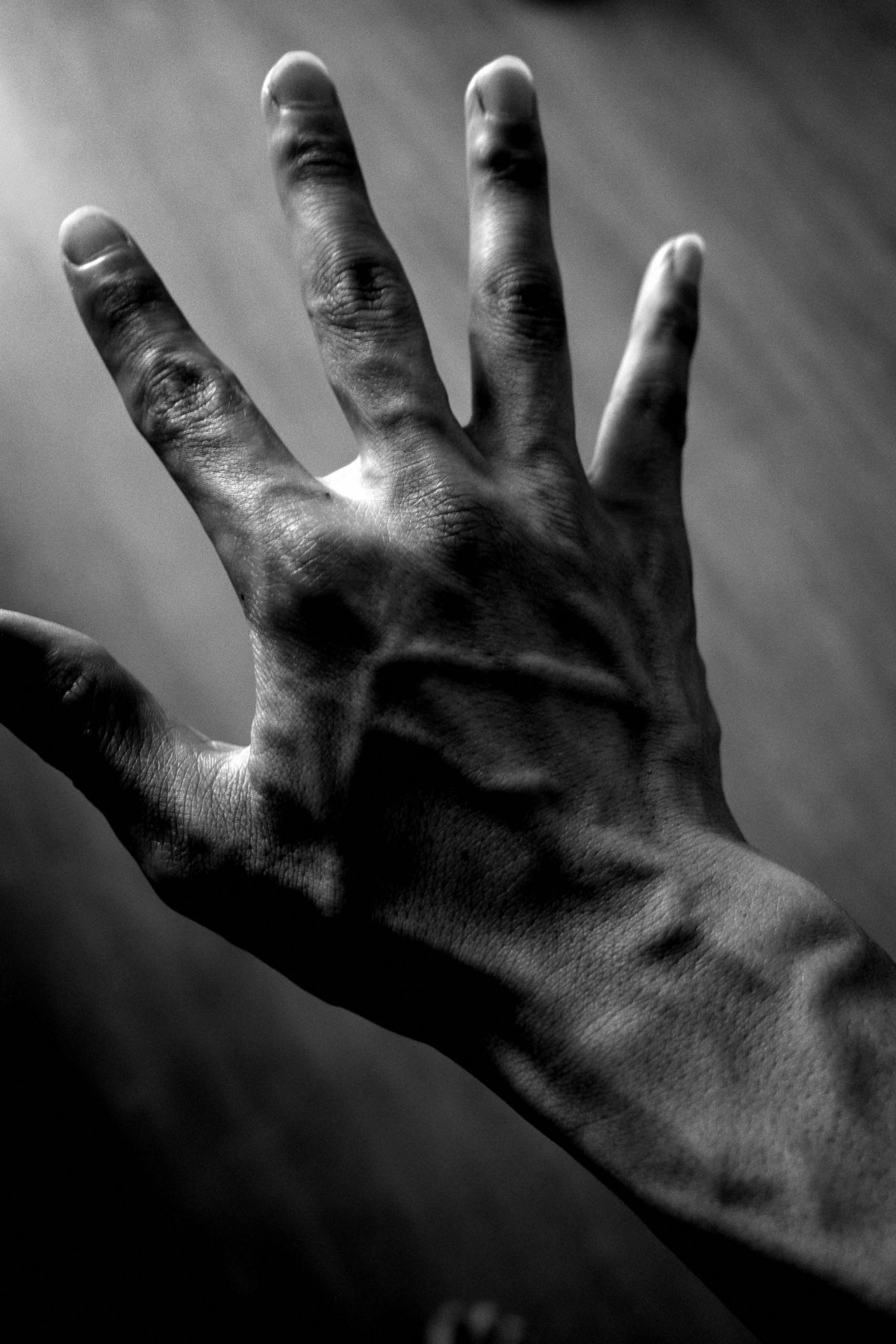 hand ERIC KIM vein black and white