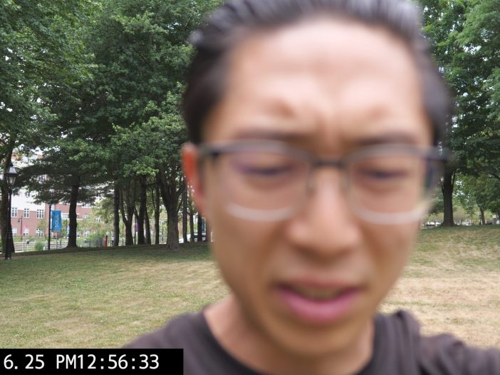 selfie ERIC KIM out of focus park
