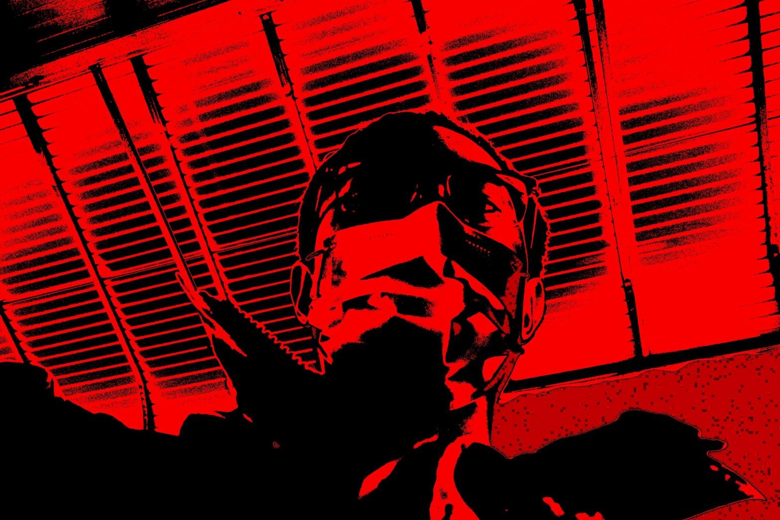 red selfie ERIC KIM