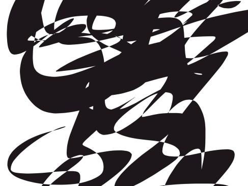 Black white abstract ERIC KIM
