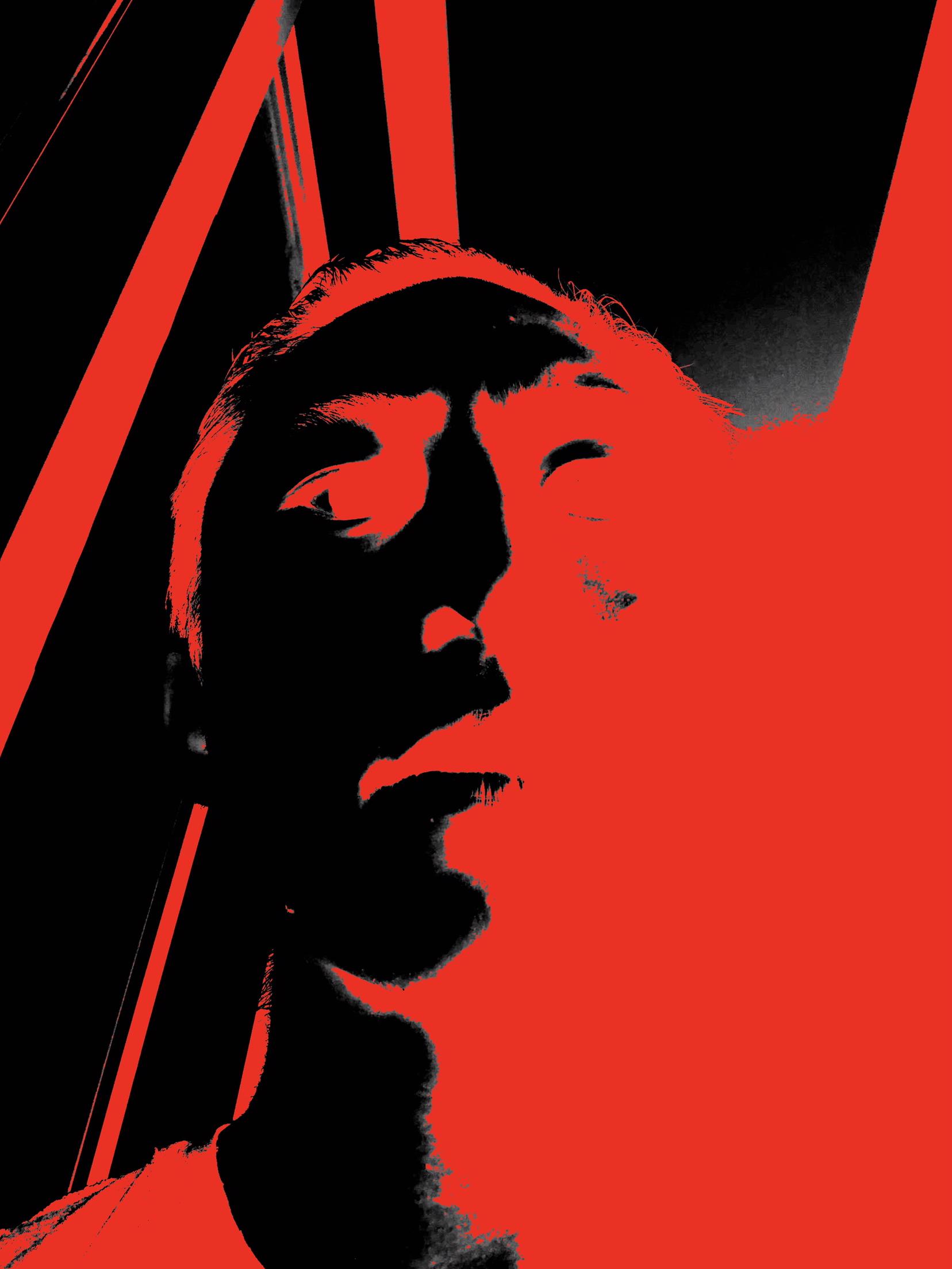 Selfie red ERIC KIM black