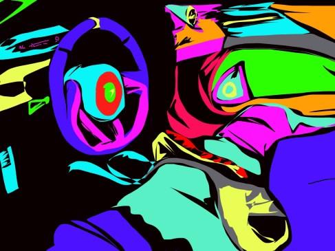 abstract cockpit mclaren
